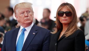 Donald in Melania Trump. FOTO: Reuters