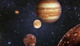 Planet Jupiter s svojimi sateliti. FOTO: Getty Images, Istockphoto