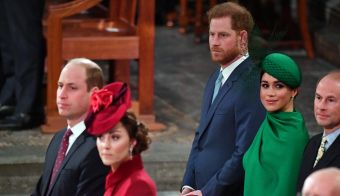 Princ Harry in Meghan ter princ William in Kate. FOTO: Pool Reuters