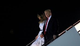Donald Trump in Melania Trump.  FOTO: Tom Brenner, Reuters