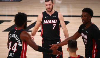 Goran Dragić odlično povezuje košarkarje Miamija. FOTO: Kim Klement/USA Today Sports